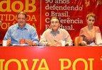 Assis Melo, Rabelo e Manuela lideraram conferência do PC do B (Divulgação/Roberto Carlos Dias)