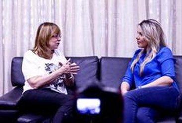 Glória concedeu a entrevista exclusiva ao DC no Projac (Agencia RBS/Jessé Giotti)
