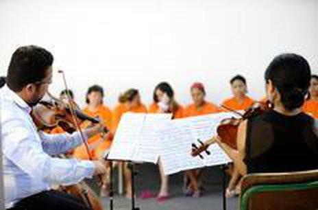 20 concertos sociais estão sendo realizados em locais como o Presídio, o Hospital São José e asilos (Agencia RBS/Germano Rorato)