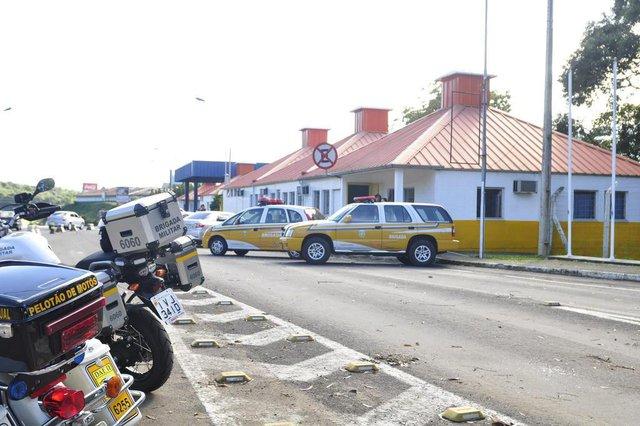 FARROUPILHA, RS - 11/05/2014 - Nova sede do Comando Rodoviário da Brigada Militar, no antigo pedágio entre Caxias do Sul e Farroupilha.  (GABRIEL LAIN / ESPECIAL)