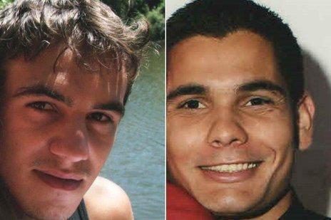 Lucas e Dionatan foram enterrados como indigentes no país vizinho (Divulgação/Montagem sobre fotos de arquivo pessoal)