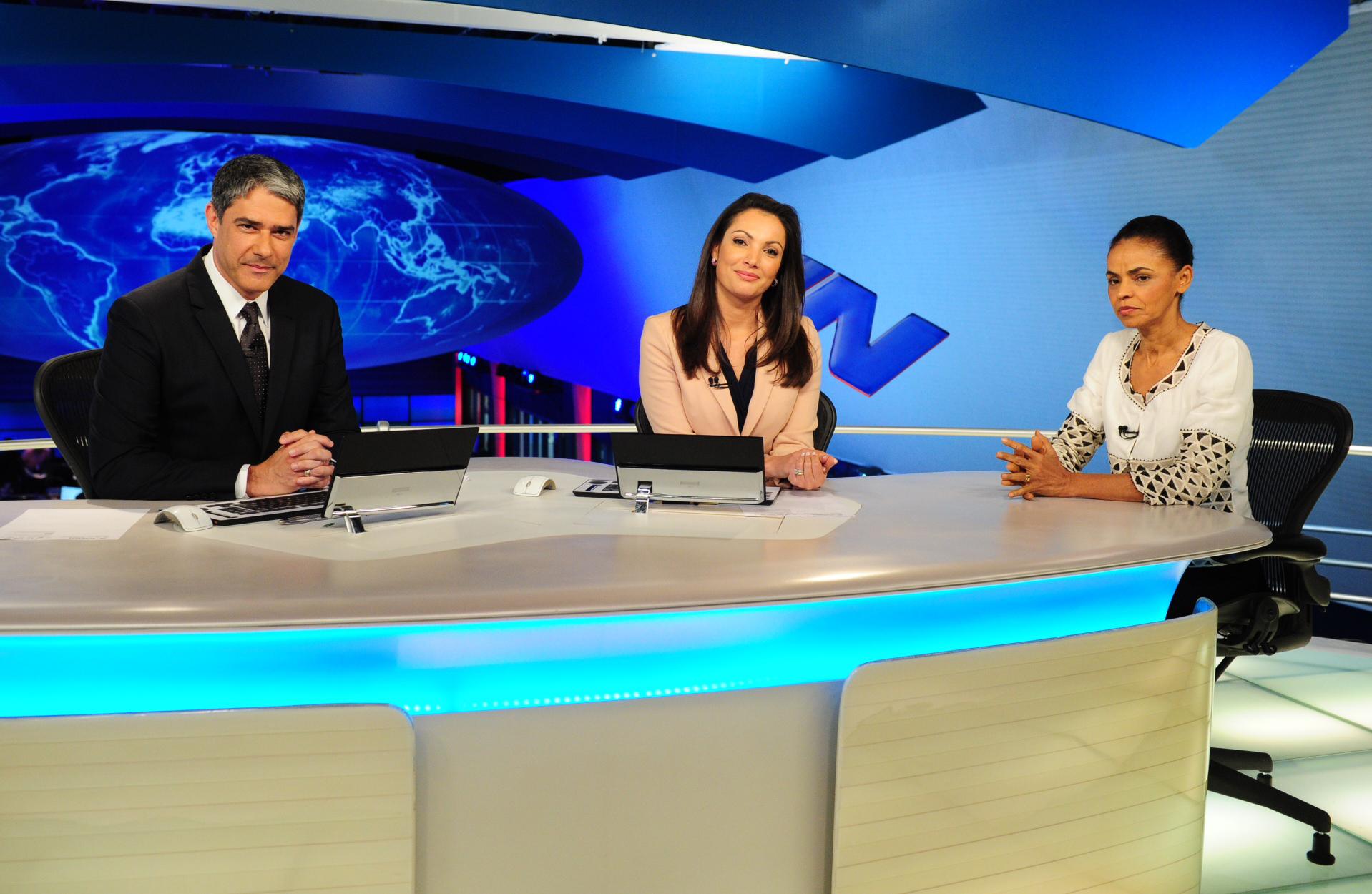 Marina encerrou o primeiro ciclo de entrevistas com os candidatos à Presidência (João Cotta / Divulgação / Rede Globo)