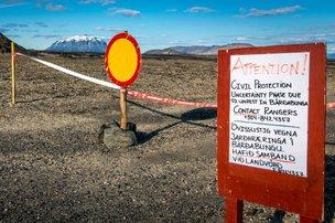 A Islândia voltou a subir o estado de alerta sobre o vulcão Bardarbunga (AFP/Arni Saeberg)