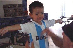 Ismael, dois anos, optou pelo time da mãe (arquivo pessoal)