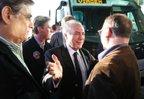 Temer foi recebido por lideranças do PMDB em Santa Catarina nesta sexta-feira (Agencia RBS/Cristiano Estrela)