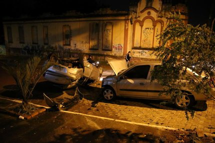 Acidente foi na esquina das ruas Bispo Laranjeira e Clemente Pinto (Agencia RBS/Carlos Macedo)
