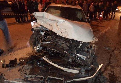 Milton dirigia a BMW com placas de Curitiba. Seis pessoas morreram e uma continua internada (Divulgação/Corpo de Bombeiros)