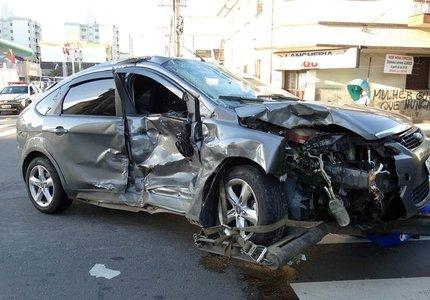 Em Caxias do Sul, passageira de Focus morreu em colisão com outro veículo (Jackson Cardoso/ Divulgação)