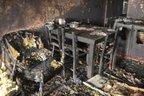 Primeiro andar da casa foi totalmente destruído pelas chamas (Agencia RBS/Marcos Porto)