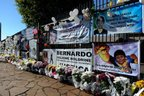 Em Três Passos, cerca da casa dos Boldrini foi transformada em memorial para Bernardo (Agencia RBS/Marcelo Oliveira)