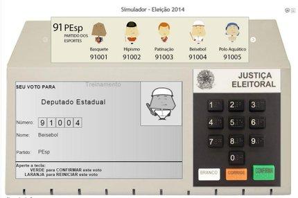 Eleitor pode treinar voto pelo simulador de urna (tse.jus.br/Reprodução)