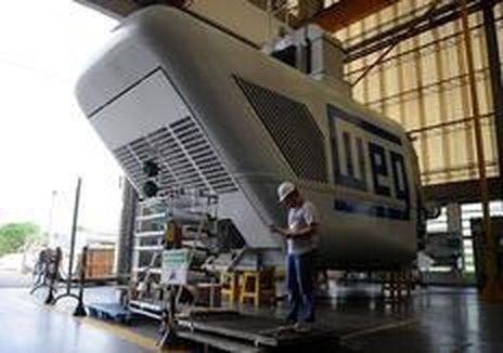 Produção de equipamentos para energia eólica (vento) em Jaraguá do Sul (Agência RBS/Maykon Lammerhirt)