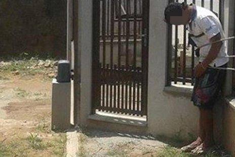 Moradores registraram imagens após a captura do suspeito (Arquivo Pessoal/Wesllen Santos)