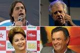(Montagem sobre fotos de Pablo Porciuncula AFP, Jos� Albino e Divulga��o PT)