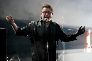 Vocalista do U2 se acidentou de bicicleta no último domingo (DPA/AFP/Wolfgang Kumm)