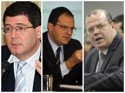 Joaquim Levy, Nelson Barbosa e Alexandre Tombini são os cotados (ABr, ABr e Agência Senado/Montagem sobre fotos)