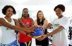Da esquerda para a direita, Leidy Ferreira, Mônica Nascimento, Yulli Cruz e Ângela Paradzinski (Agencia RBS/Maykon Lammerhirt)