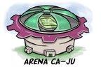 Arena Ca-Ju: teto inspirado nos escudos dos times (Arte: Charles Segat/Agência RBS)