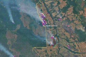 magens de satélite do INPE ajudam a monitorar as queimadas na Amazônia (Divulgação/Inpe)