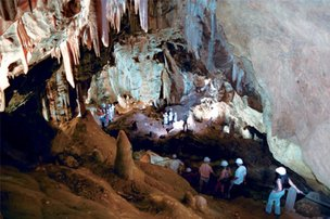 Conhecer as cavernas de Botuverá é a boa do dia (Prefeitura de Botuverá/Divulgação)
