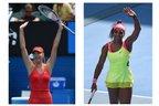 Sharapova e Serena Williams venceram seus jogos nesta quinta-feira, em Melbourne (AFP/Montagem sobre fotos de Mal Fairclough)