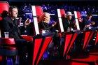 Os técnicos Blake Shelton, Christina Aguilera, Pharrell Williams e Adam Levine (Divulgação/NBC)
