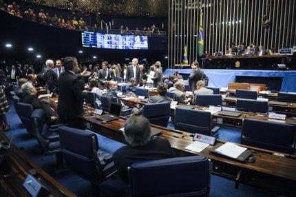 Senadores aprovaram nesta quarta-feira a MP 664, segunda medida do pacote de ajuste fiscal enviada pelo governo (Agência Senado/Divulgação/Jefferson Rudy)