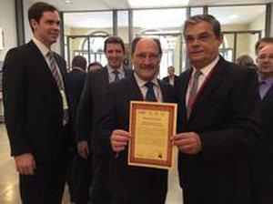 Delegação gaúcha comemorou entrega do certificado no Maison de La Chimie, em Paris (Zero Hora/Rosane de Oliveira)