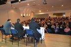 Ciclo de debates foi realizado na UniSociesc, na Marquês de Olinda (Divulgação/Prefeitura de Joinville)