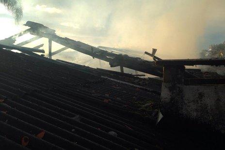Ninguém ficou ferido, já que a casa não era mais utilizada pela família (Agencia RBS/0)