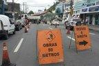 Obras de implantação que ocorrem no Centro de Blumenau avançam para a Rua Coronel Vidal Ramos (Agência RBS/Gilmar de Souza)