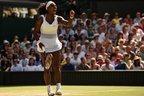 Serena celebra um ponto em partida contra Garbiñe (AFP/LEON NEAL)