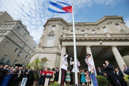 Em julho, Cuba reabriu embaixada nos EUA após distanciamento de 54 anos (CHIP SOMODEVILLA / GETTY IMAGES NORTH AMERICA / AFP)