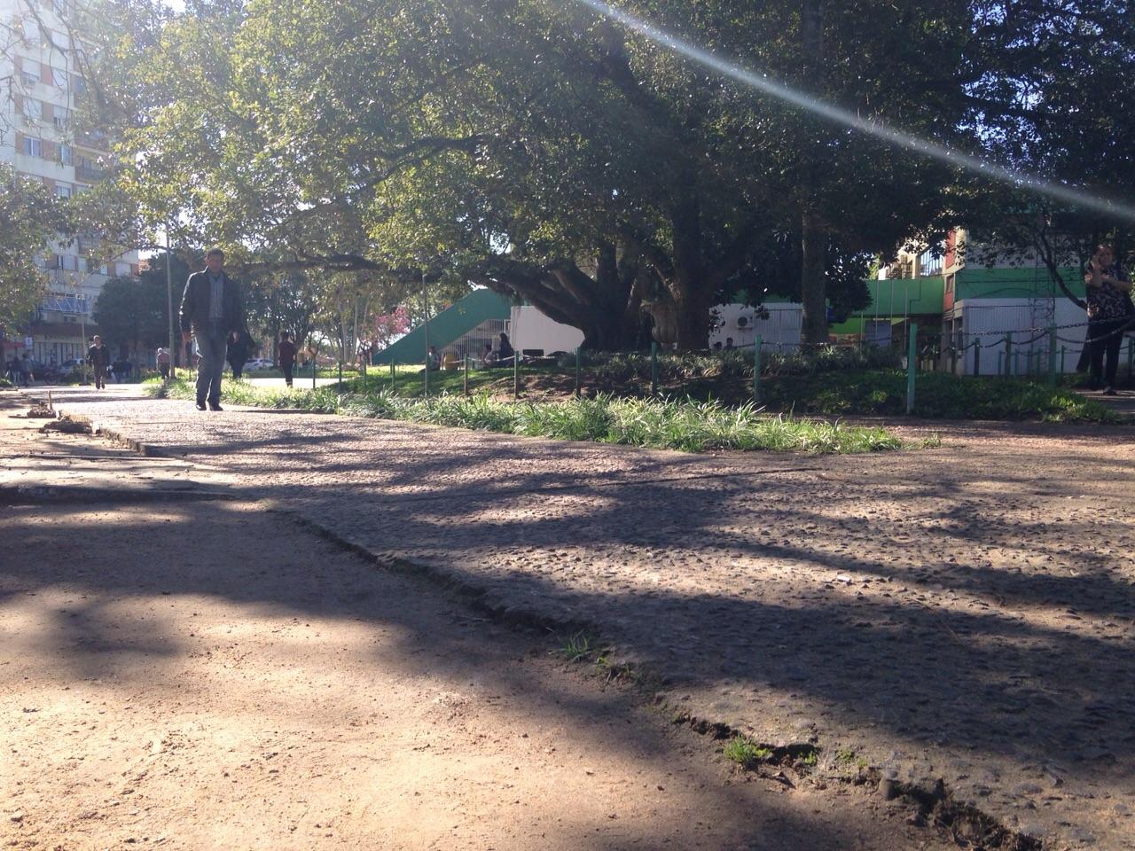Linchamento ocorreu na Praça Júlio de Castilhos, no Centro (Agência RBS/Débora Ely)