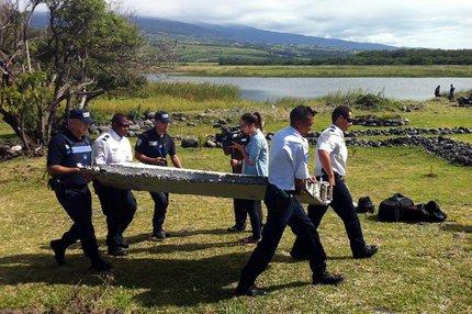 Fragmentos foram achados em ilha francesa em julho (AFP/Divulgação)