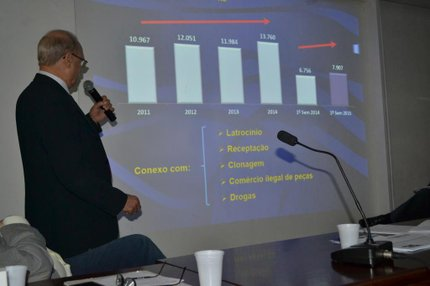 Jacini apresentou estatísticas na Comissão de Segurança e Serviços Públicos da Assembleia (Assembleia Legislativa/Divulgação/Luiz Morem)