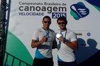 Gilvan (E) e Givago Ribeiro ficaram em segundo lugar no K2 1.000 metros (Divulgação/Asena)
