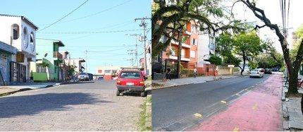 Zero Hora circulou pelos locais das duas ocorrências ¿ Rubem Berta (à esquerda) e Bom Fim (à direita) (Júlio Cordeiro/Agência RBS)