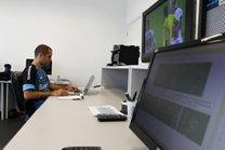 Sala do Centro Digital de Dados (CDD) do Grêmio no CT Luiz Carvalho (Grêmio/Divulgação/Lucas Uebel)