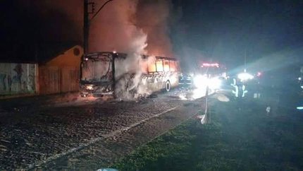 Leitor registrou o momento do incêndio (Diego Felipe Lopes Nunes/Arquivo Pessoal)