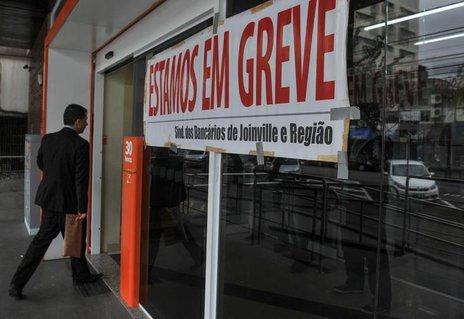 Em Joinville, paralisação atinge cerca de 55% das agências (Especial/Claudia Baartsch)