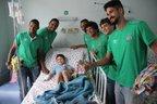 Jogadores da Chapecoense levaram alegria, carinho e presentes para pacientes do Hospital da Criança (Chapecoense/Cleberson Silva)