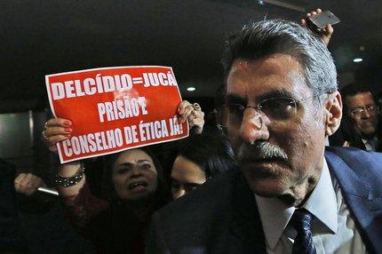 Romero Jucá (PMDB-RR) foi comparado por oposicionistas a Delcídio Amaral (ESTADÃO CONTEUDO/DIDA SAMPAIO)