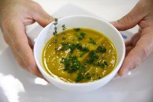 Sopa de moranga com gengibre, rica em betacaroteno e antioxidantes (Agencia RBS/Carlos Macedo)