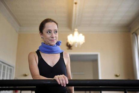 Em maio deste ano, Ana deu uma aula especial para bailarinas de Joinville (Agencia RBS/Maykon Lammerhirt)
