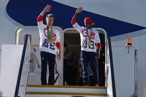Max Whitlock, ginasta, e Nicola Adams, boxeador (AFP/JUSTIN TALLIS)