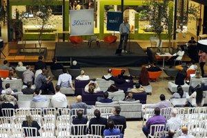 Encontro com candidatos ocorreu na sede da Acate, na rodovia SC-401 (Agencia RBS/Charles Guerra)