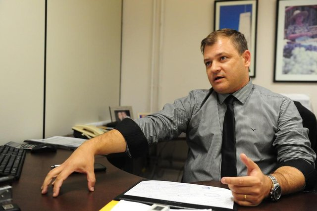 CAXIAS DO SUL, RS, BRASIL (02/02/2018). Projeto de Cidade. Julio Cesar Freitas da Rosa, chefe de gabinete, na administração Daniel Guerra. (Roni Rigon/pioneiro).
