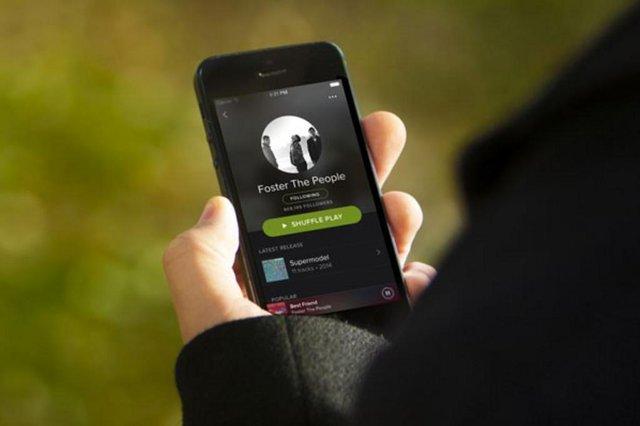spotify, site de música online.