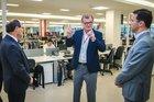 Galló conversou com Sartori eMarchezan na inauguração da sede administrativa da Lojas Renner nesta quinta-feira (Agência Preview/Divulgação/Jefferson Bernardes)
